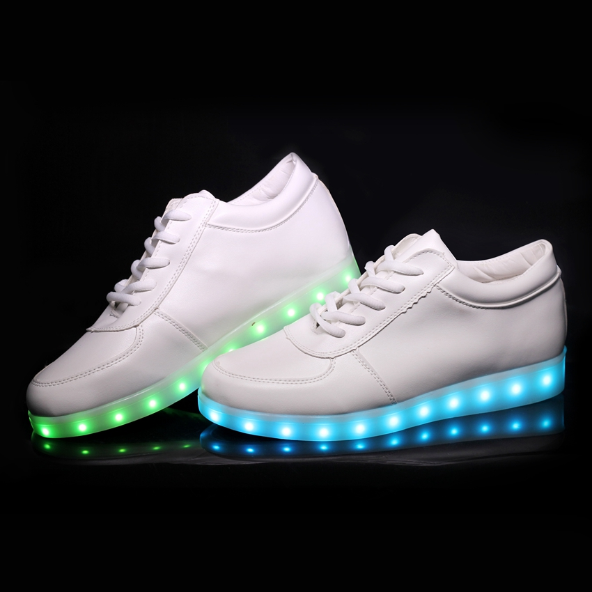 Colorful Adult Led Lights Usb Charging Colorful Shoes Mesh Mens Models Luminous Shoes Shoes High Safety Shoes