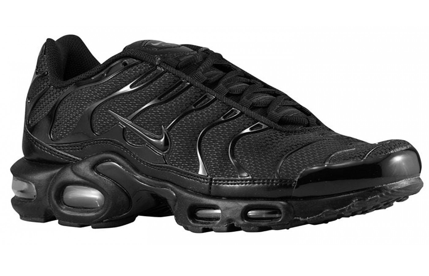 the best attitude dafef 7b99d A three quarter view of the Nike Air Max Plus shoe ...