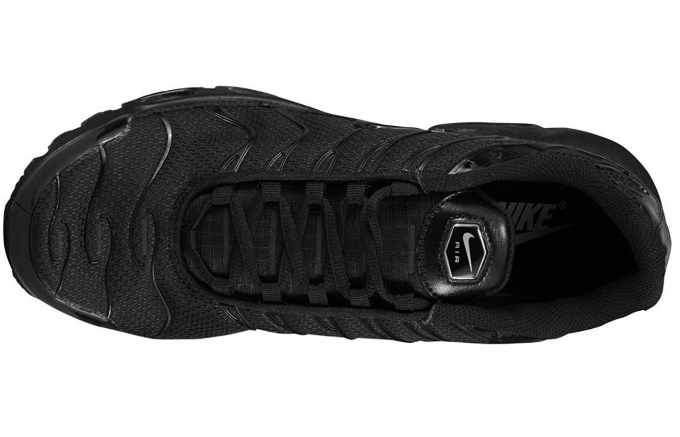 A top view of the Nike Air Max Plus shoe