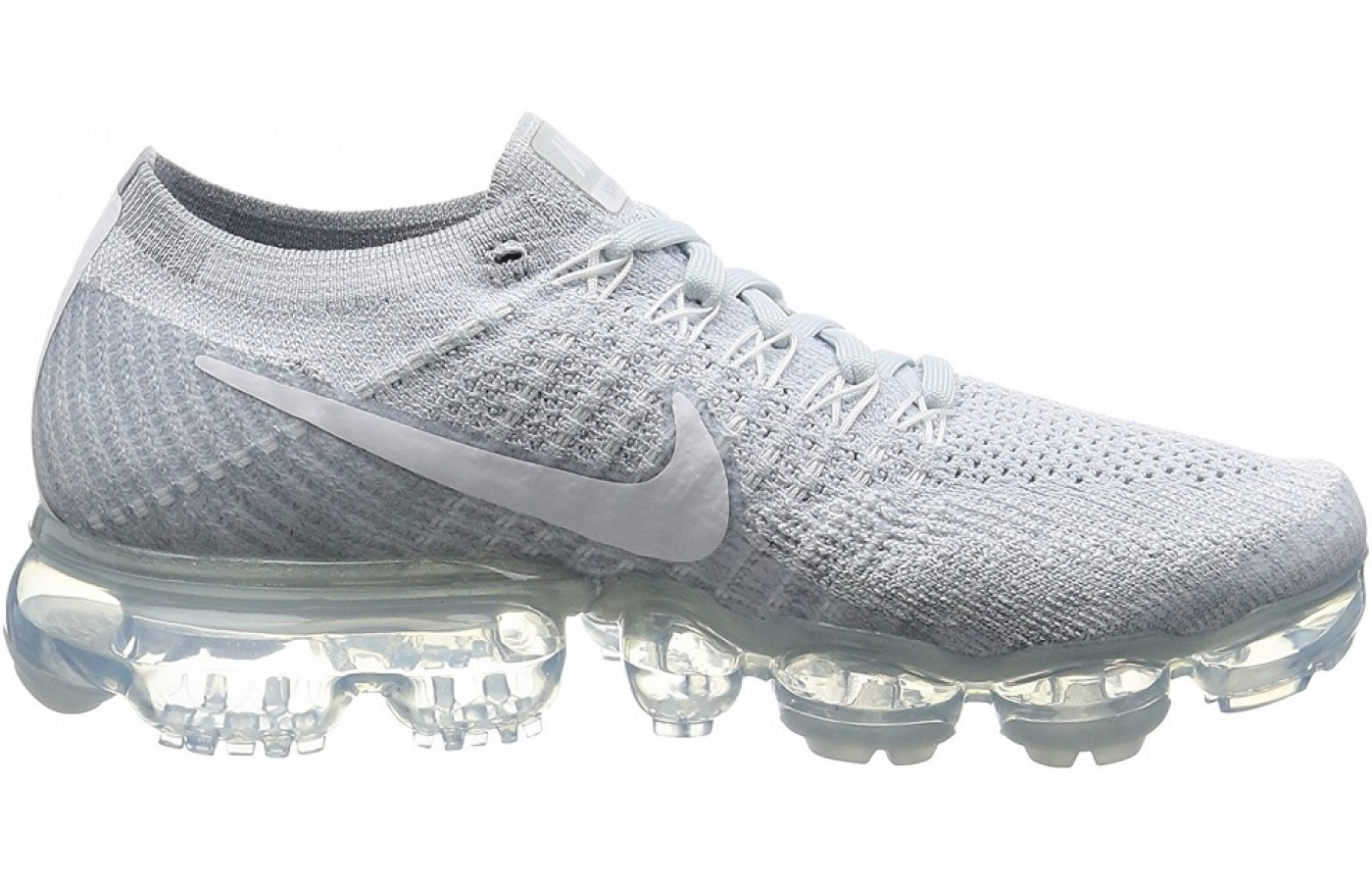 the latest ddb92 76428 ... Side view of the Nike Air Vapormax running shoe ...