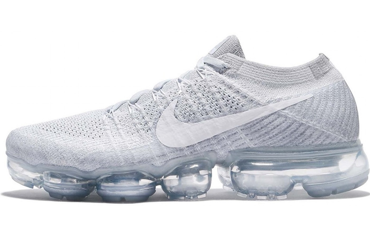 Side view of the Nike Air Vapormax running shoe