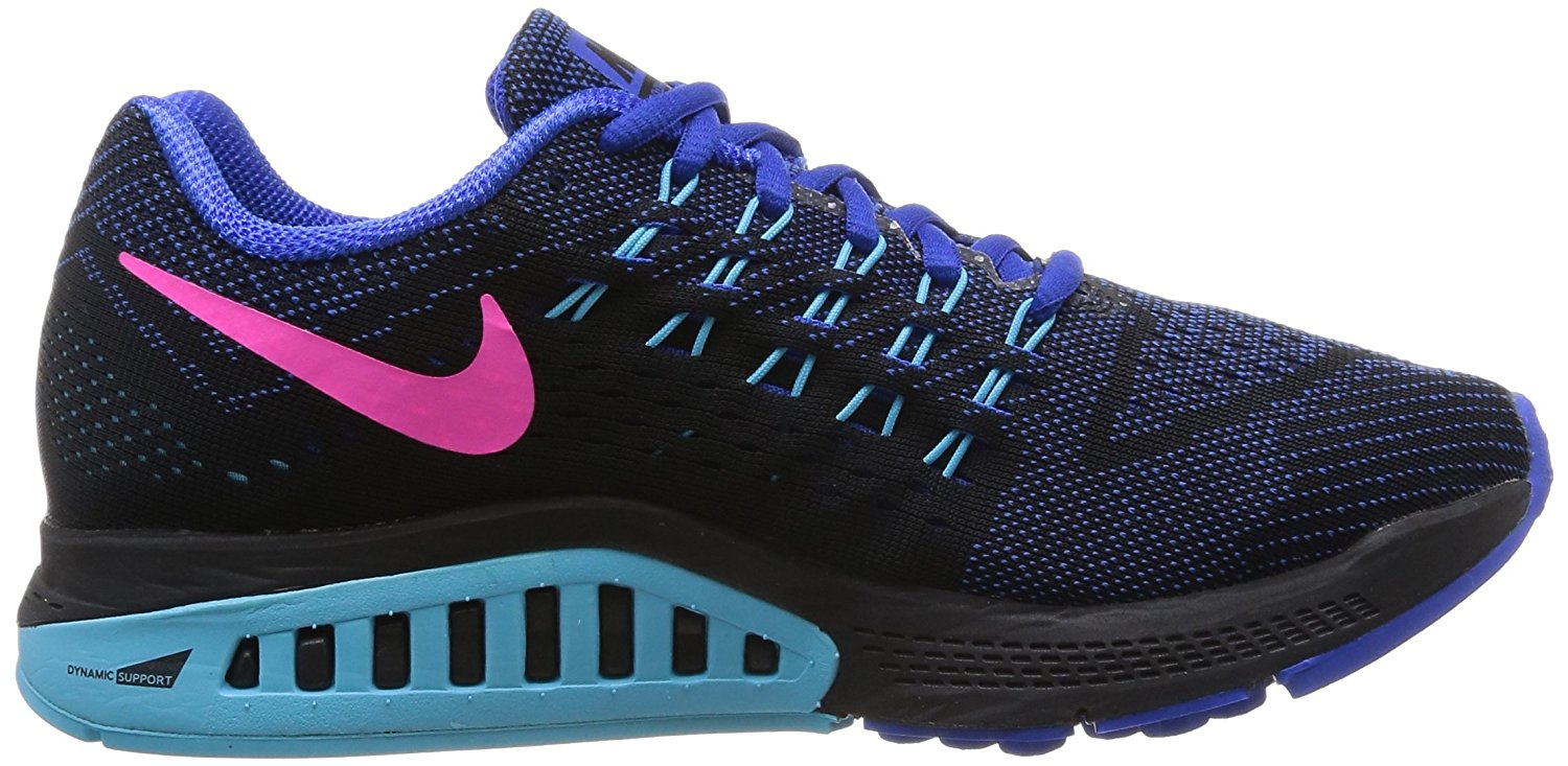 A side view of the Nike Air Zoom Structure running shoe