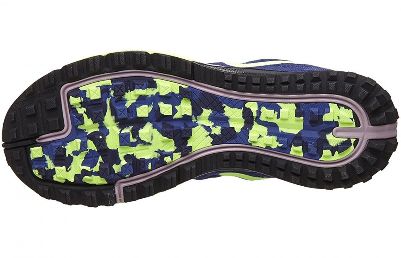 A bottom view of the Nike Air Zoom Terra Kiger 3 Running Shoe
