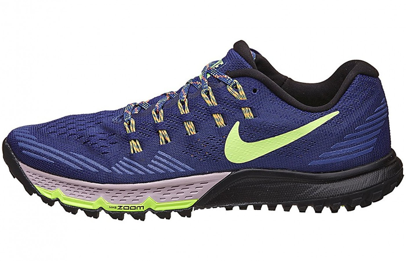 A side view of the Nike Air Zoom Terra Kiger 3 Running Shoe