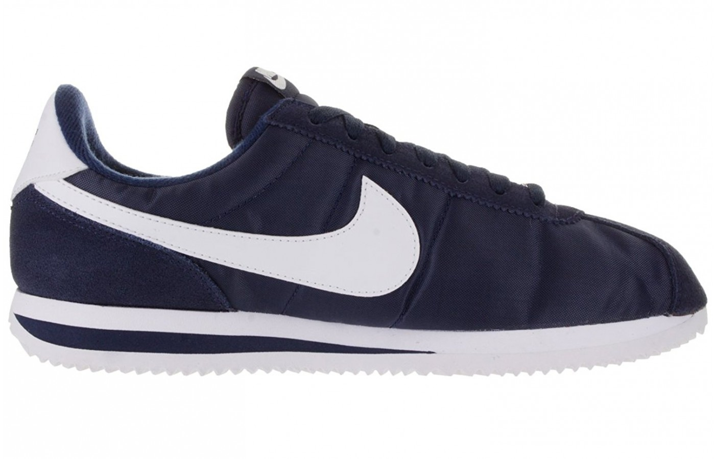 Full view of the length of the Nike Cortez