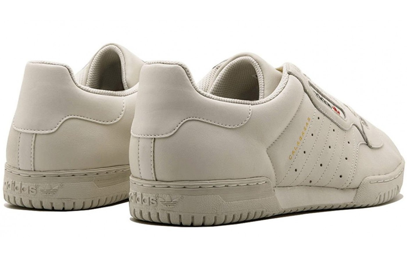 rear angled view of the Adidas Yeezy Powerphase