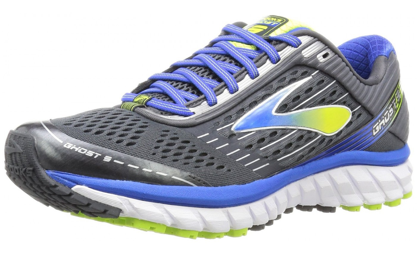 Brooks Ghost 9 angled
