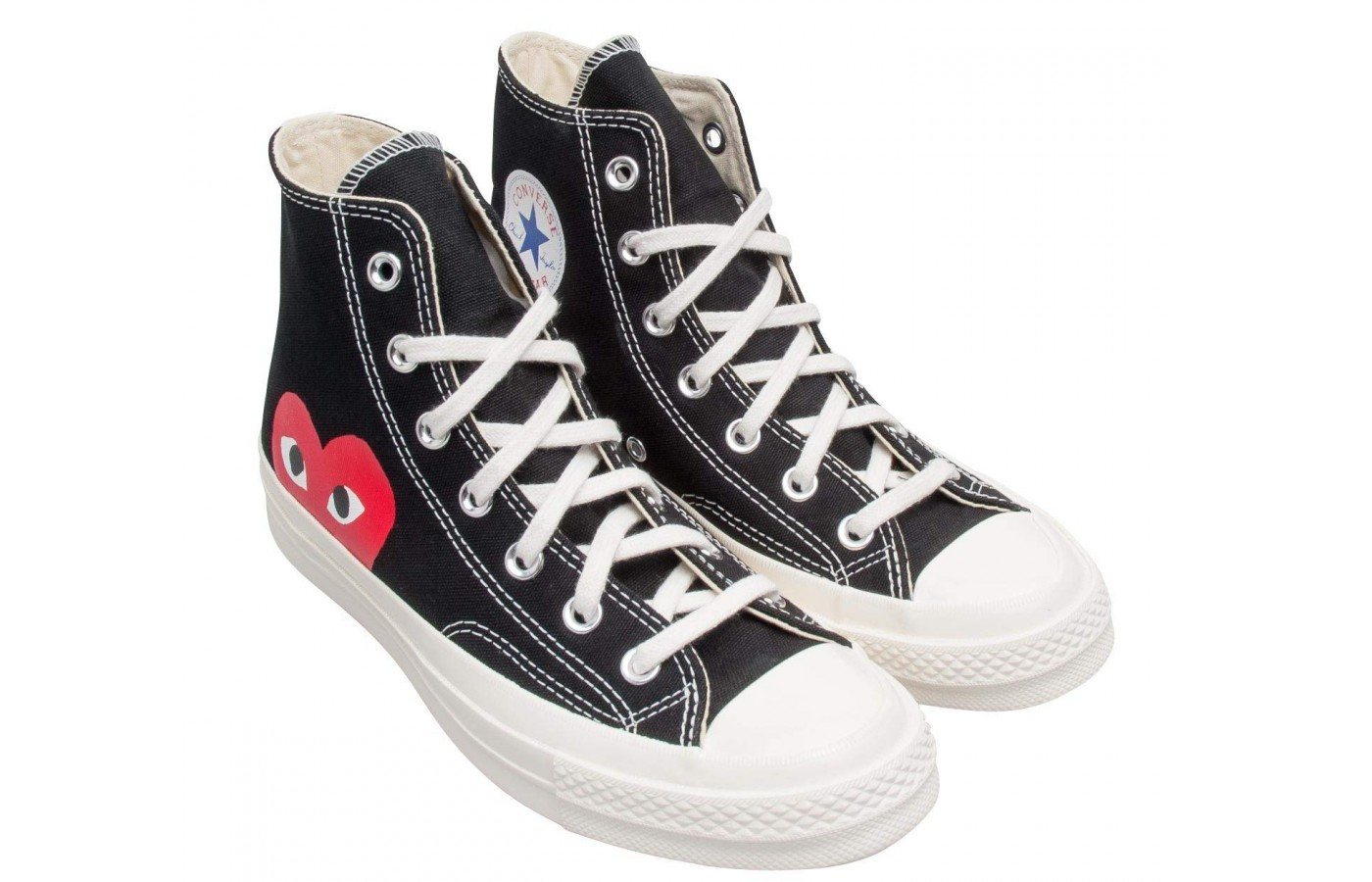 premium selection 57f30 40c8e Converse Comme Des Garcons Play Reviewed. Side  Angle  Back
