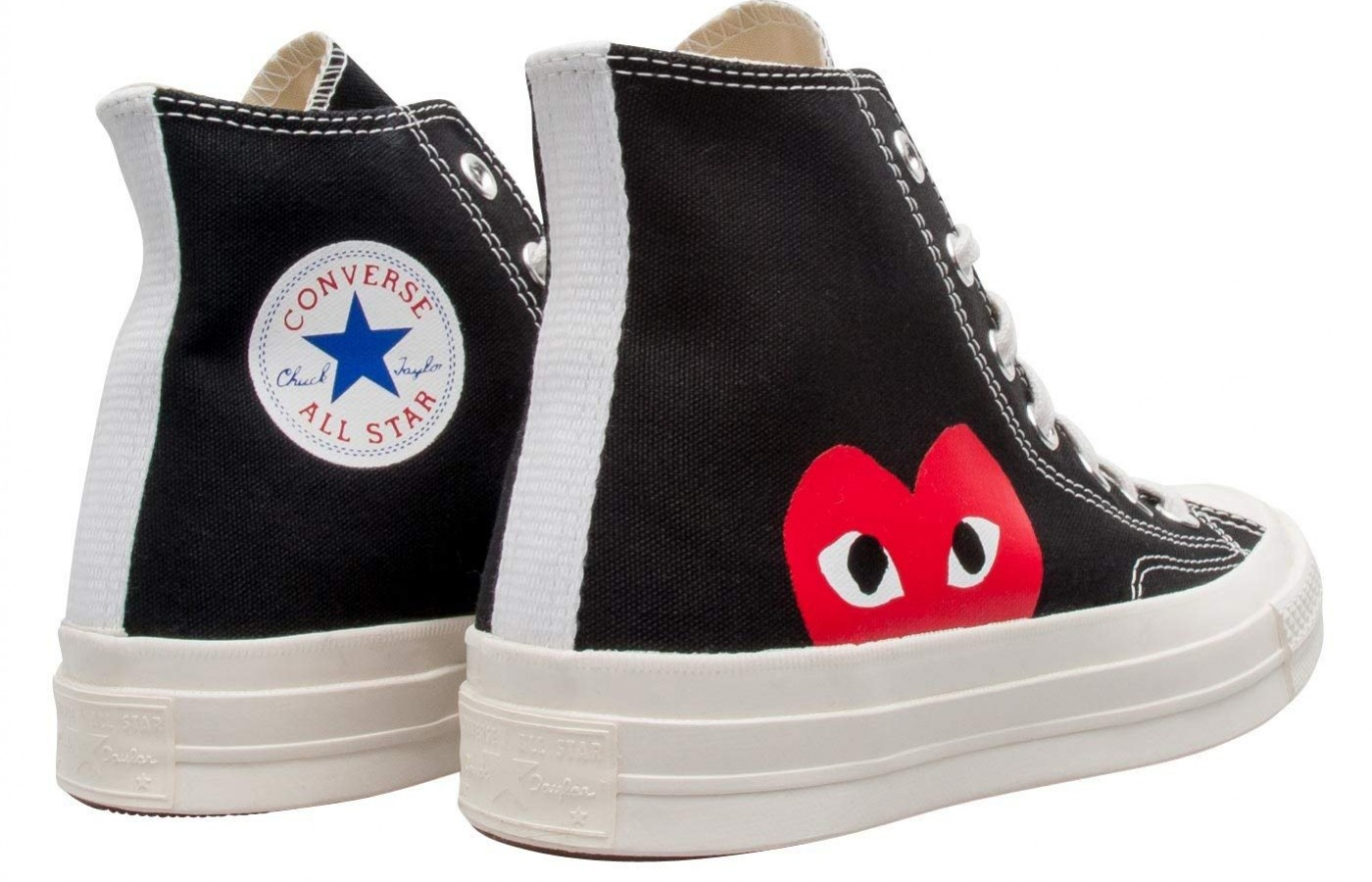 fe56f340ba0a8b Converse Comme Des Garcons Play Reviewed. Side  Angle  Back