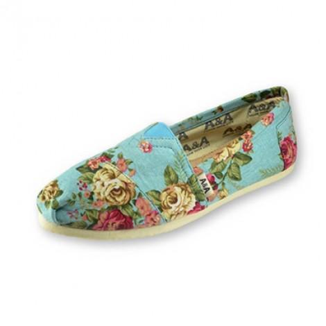 A&A VEGAN Floral Black Slip-on