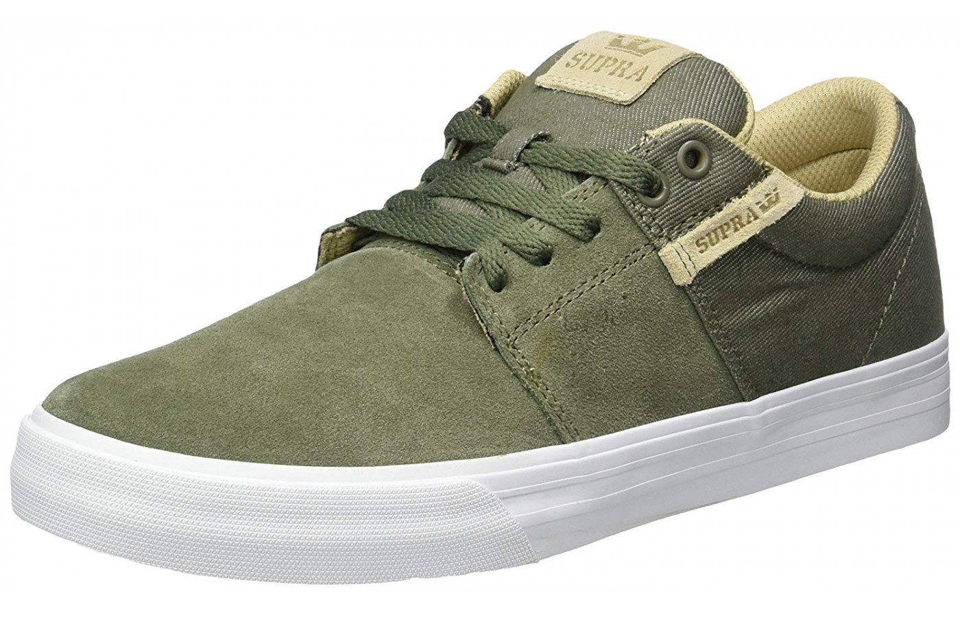 the Supra Stacks Vulc II shown from the front/side