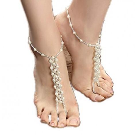 Crochet Pearl Sandals