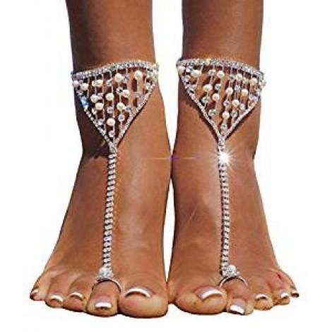 Golden Rhinestone Sandals