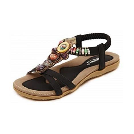9. Insun Bohemian Beaded Sandal