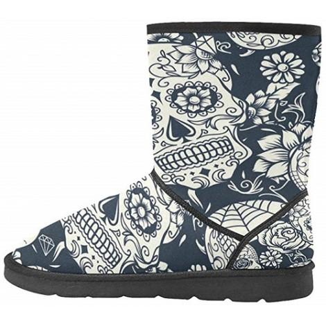 Interest Print Winter Boot