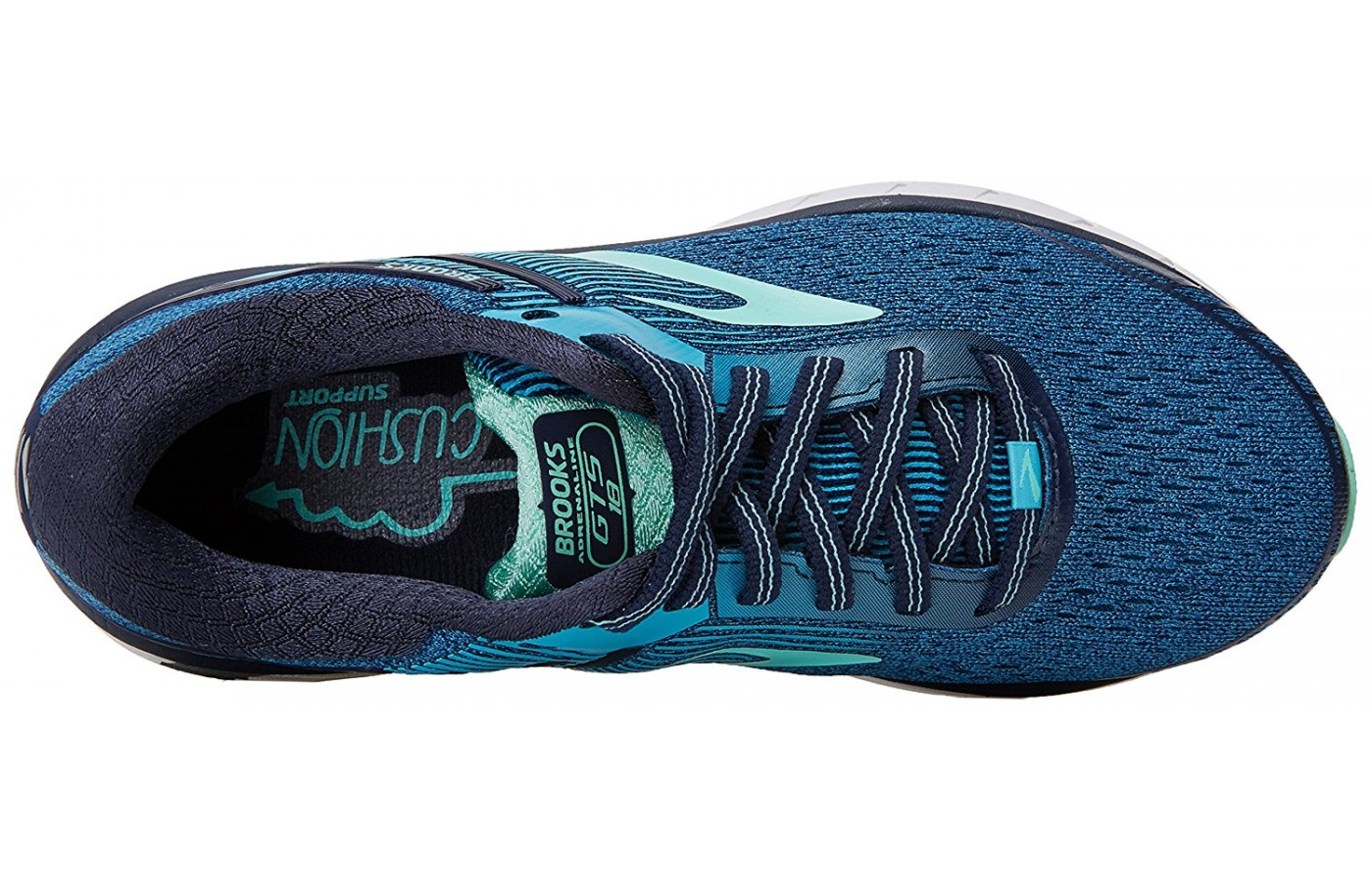 The top part of the Brooks Adrenaline GTS 18 shown