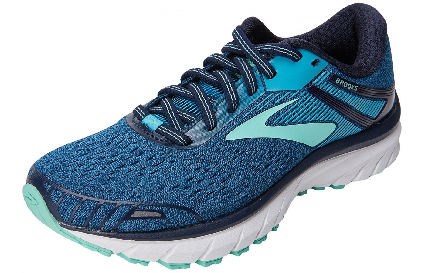 The Brooks Adrenaline GTS 18 shown from the front/side view