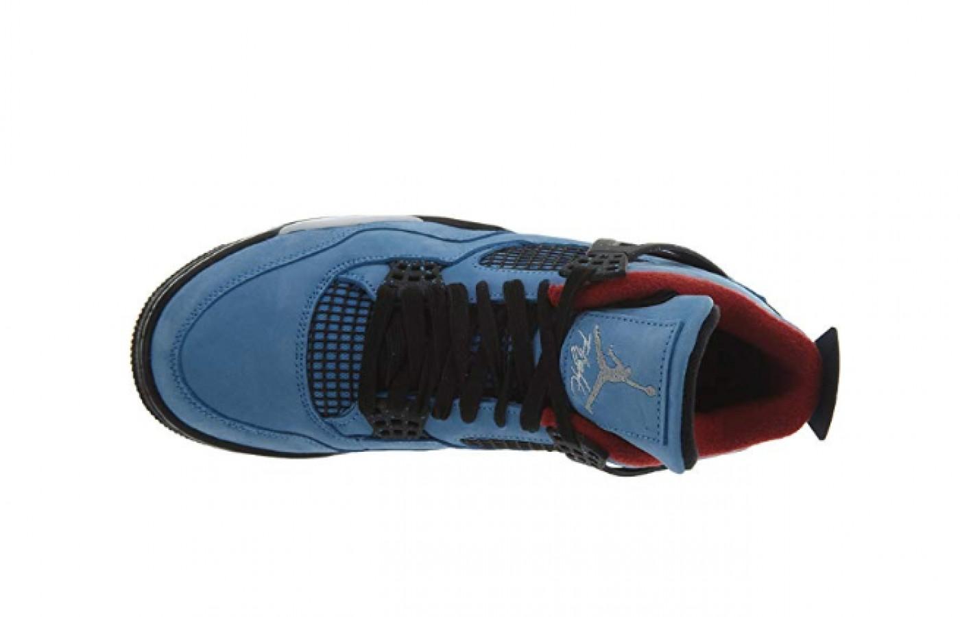 Jordan 4 Retro Travis Scott Cactus Jack Style Sneakers  left