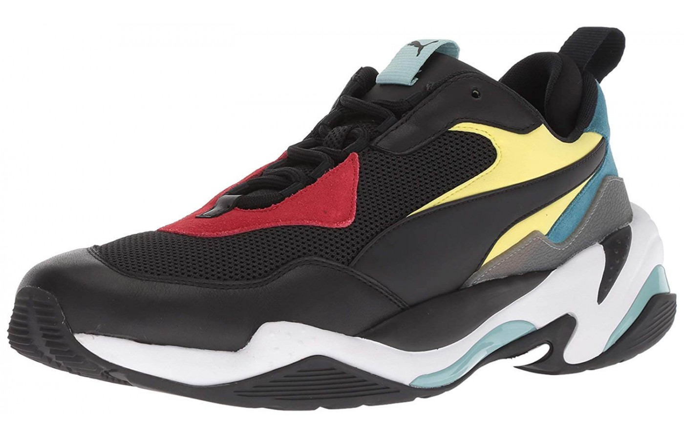 a0dc6a868c12 Clean but retro aesthetic of the Puma Thunder Spectra at an angle.