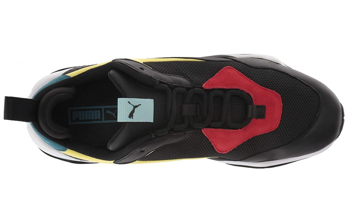 A peak at the internal lacing system of the Puma Spectra Thunder.