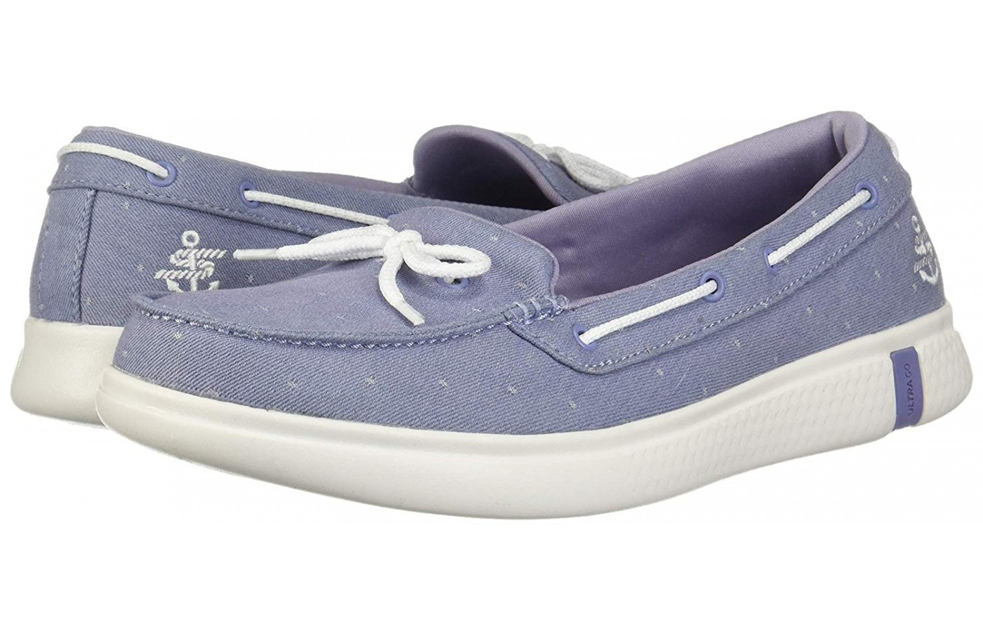 Skechers On The GO Glide Ultra Ocean angled perspective