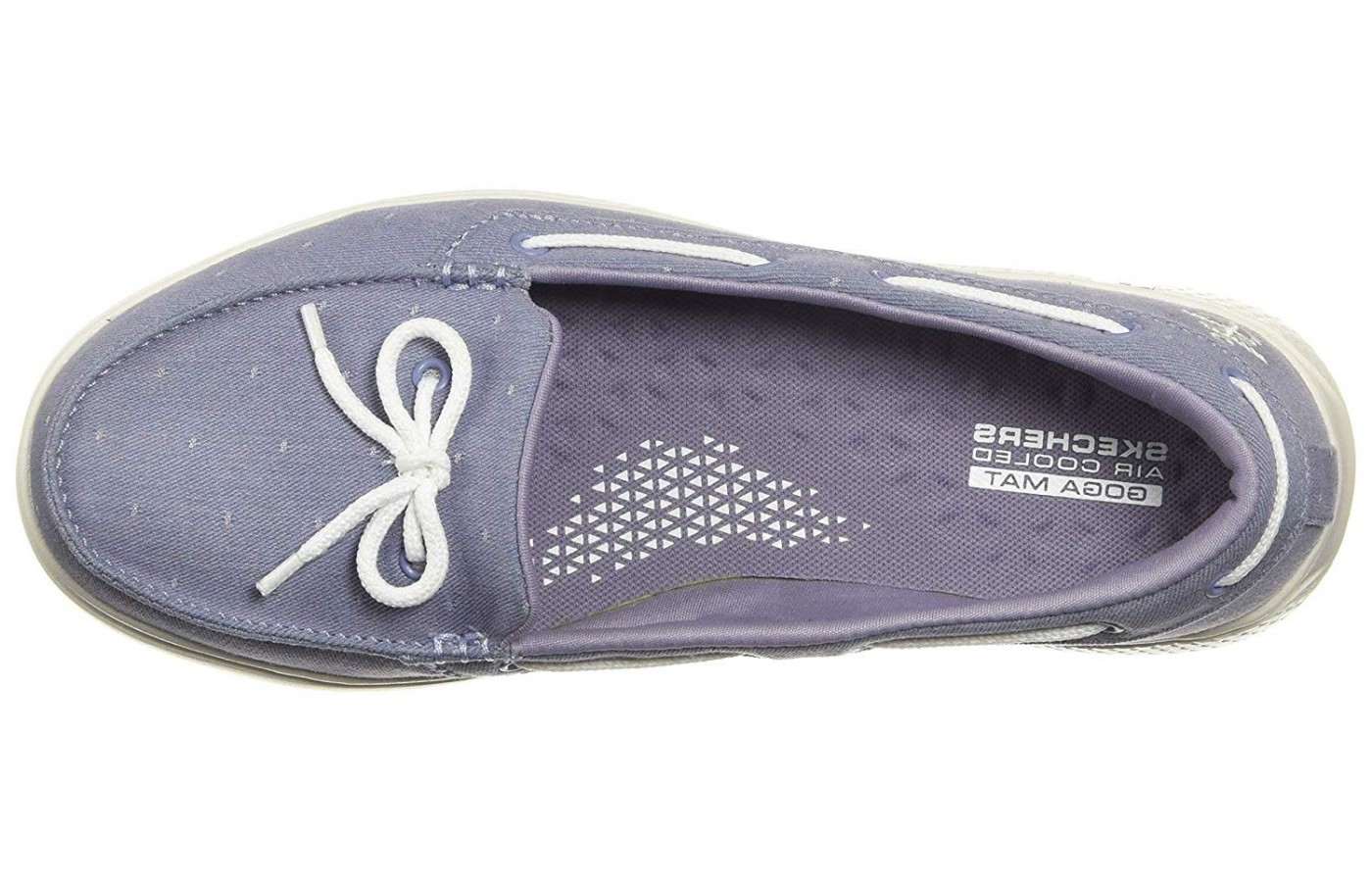 Skechers On The GO Glide Ultra Ocean with its laced bow detailing