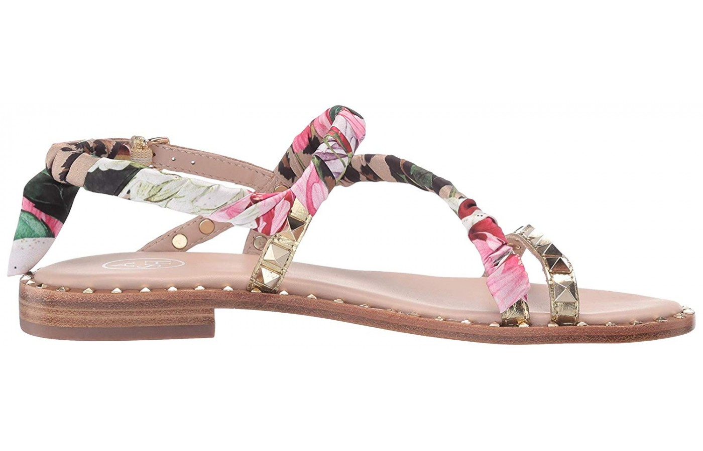 A one-inch heel provides some arch support in this Pattaya.