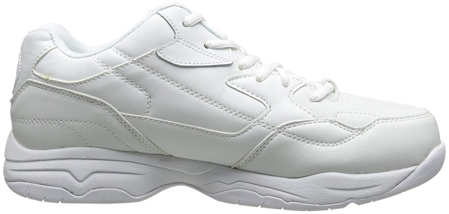 The overlays of the Felton-Albie can be seen on this white version of the shoe.