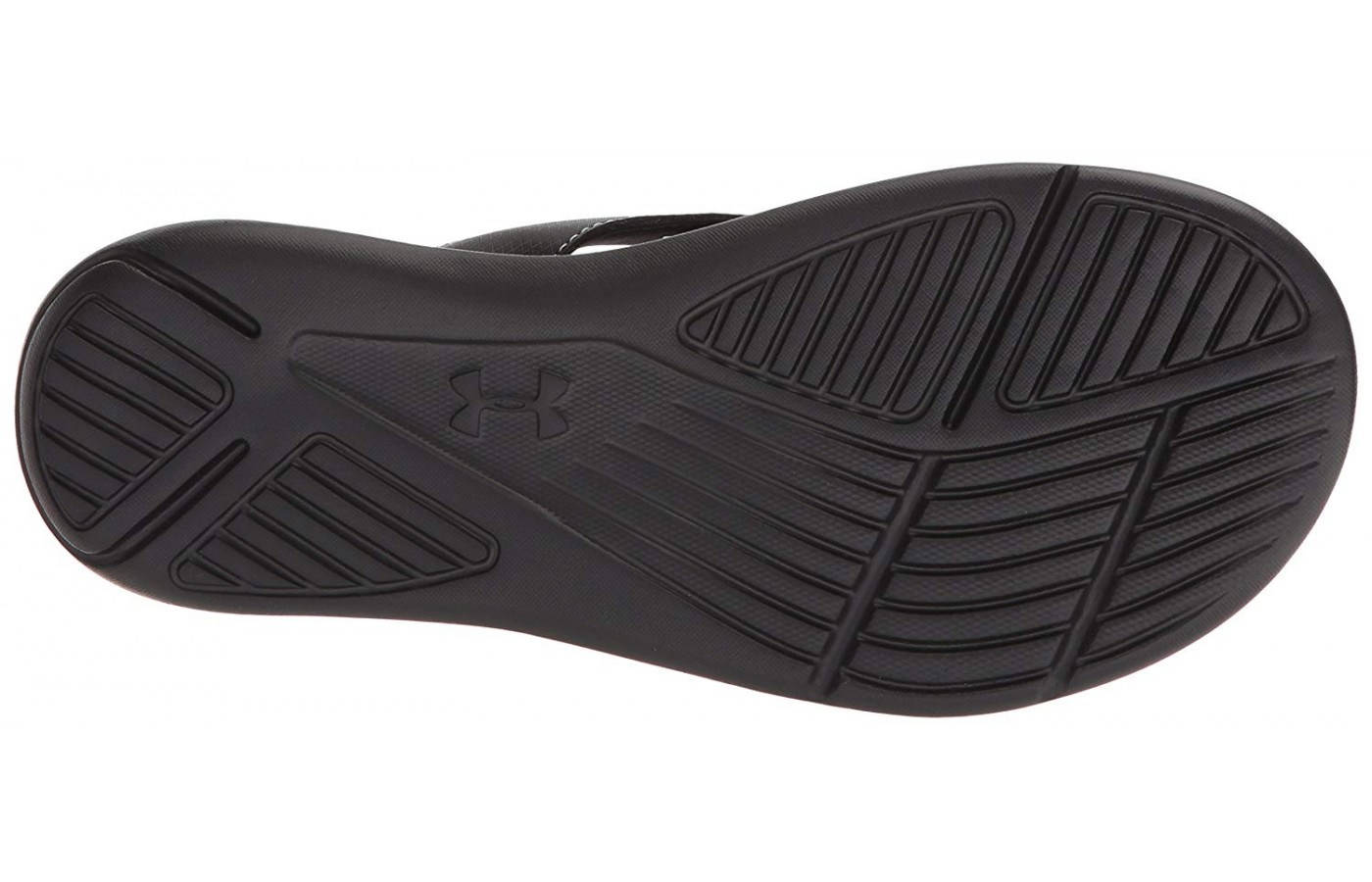 A look at the traction of this Under Armour thong sandal.