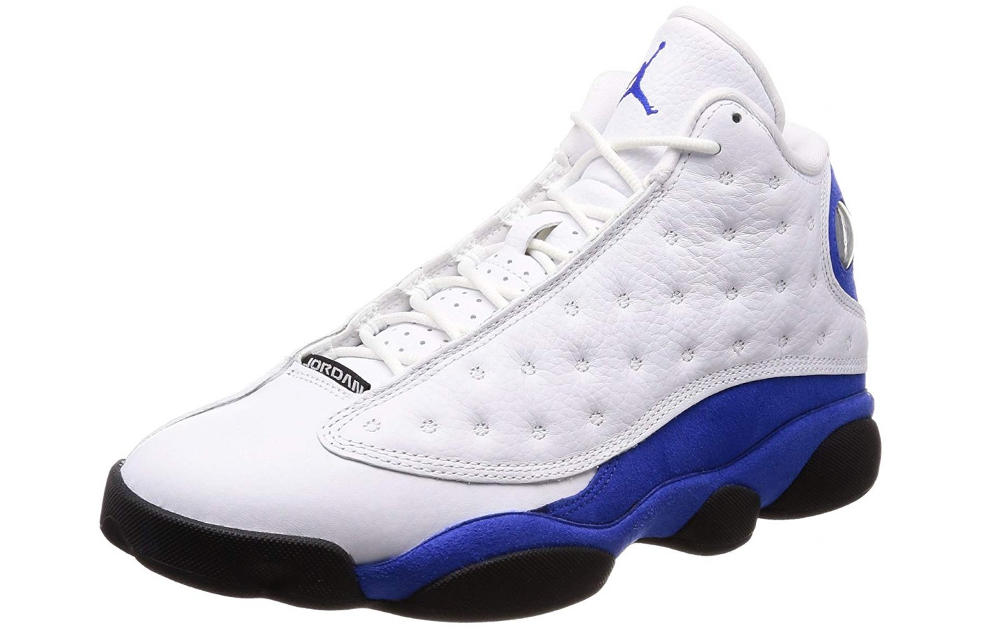 A quilted upper wraps around this Air Jordan Retro 13.