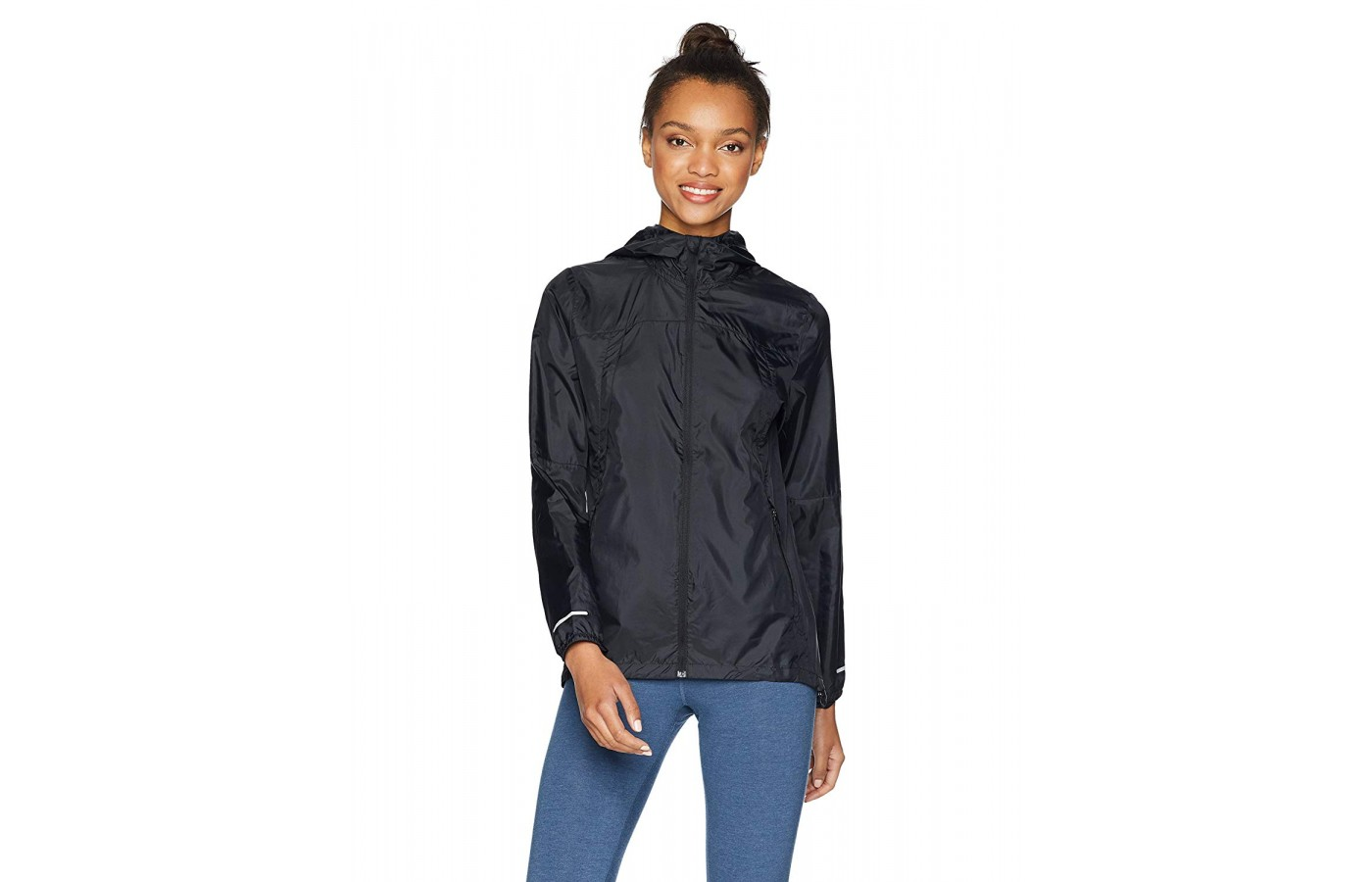 Asics Packable Jacket black front