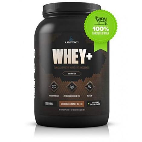 Legion Whey+ chocolate peanut butter flavored protein powder