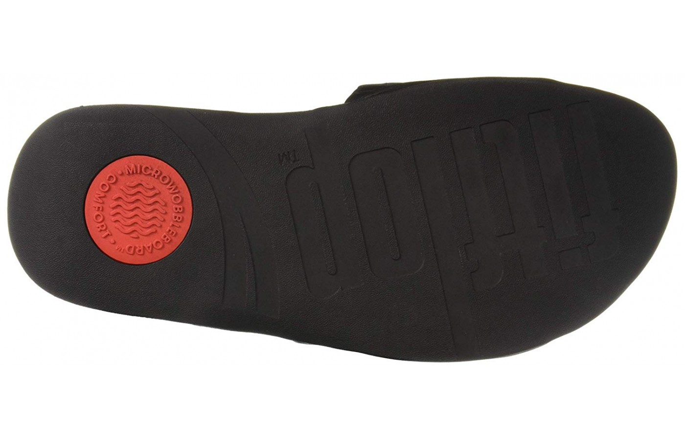 Traction pods and the rubber outsole on this FitFlop.
