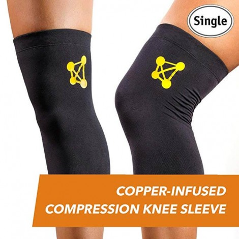 copper infused compression knee sleeve CopperJoint
