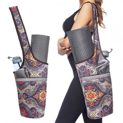 Ewedoos best yoga mat tote with Large Size Pocket and Zipper Pocket