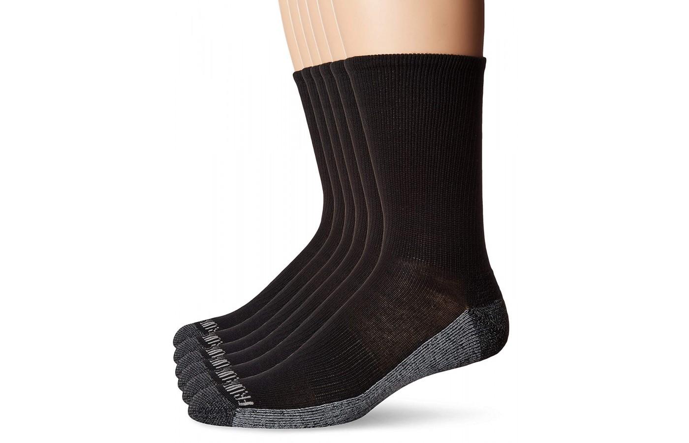 Fruit of the Loom Crew Socks black