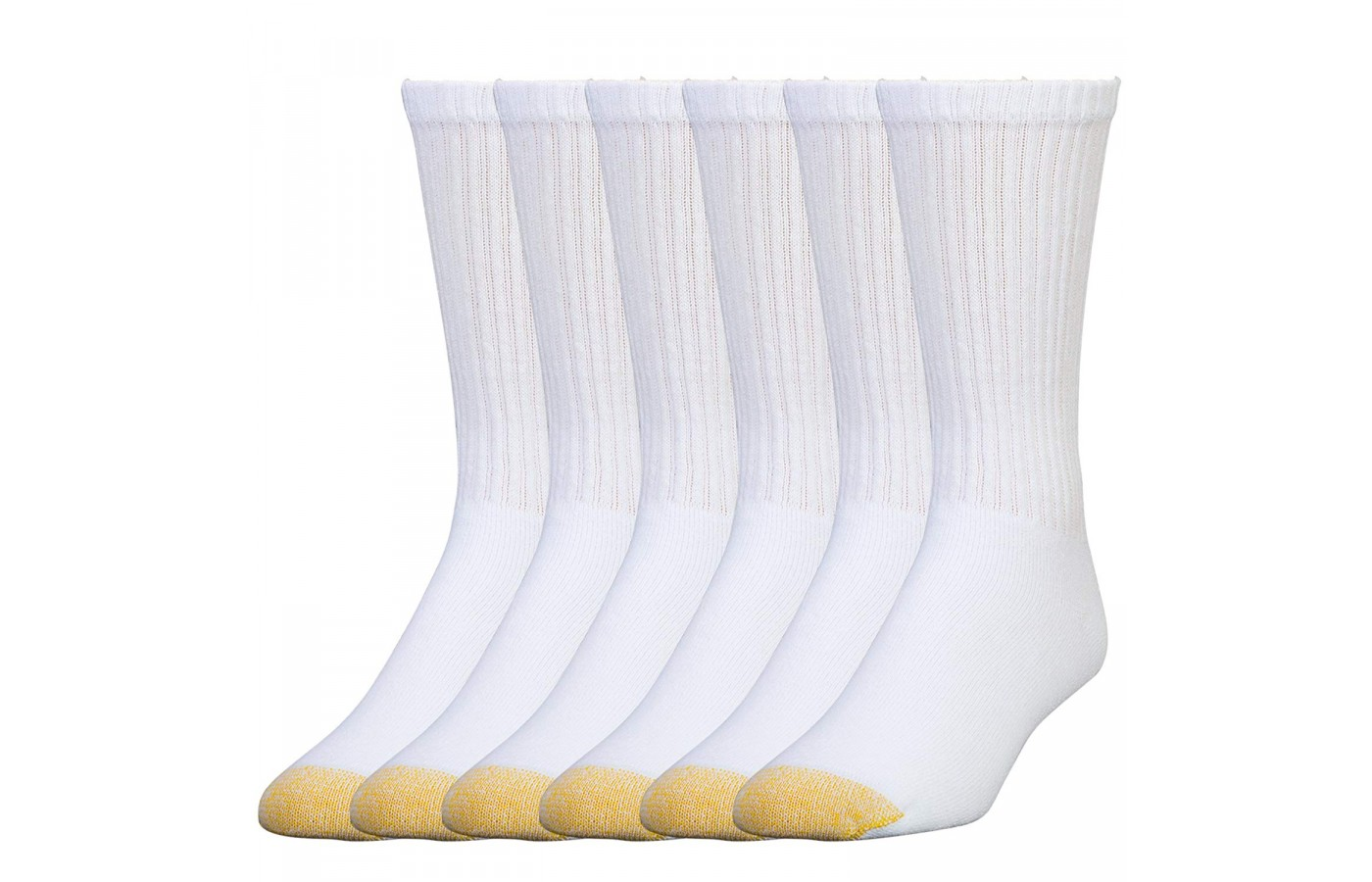 Gold Toe Crew Socks white pack