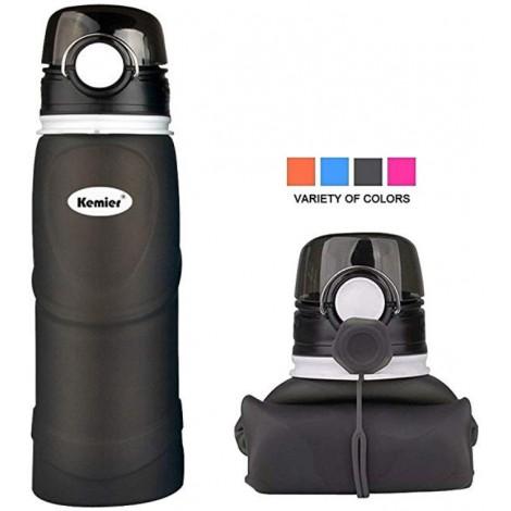 Kemier foldable water bottle