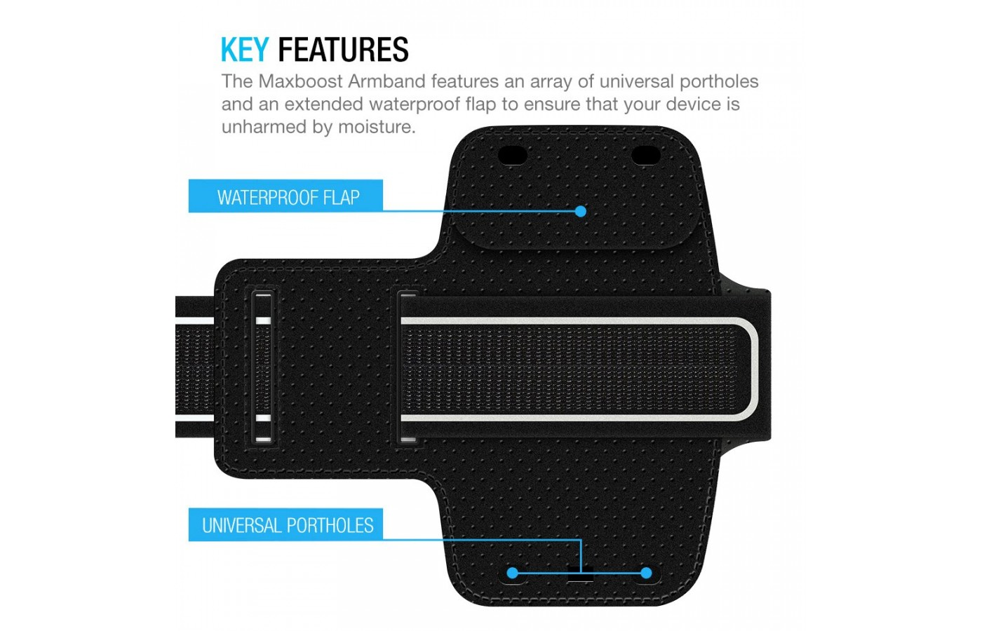 Maxboost Armband key features
