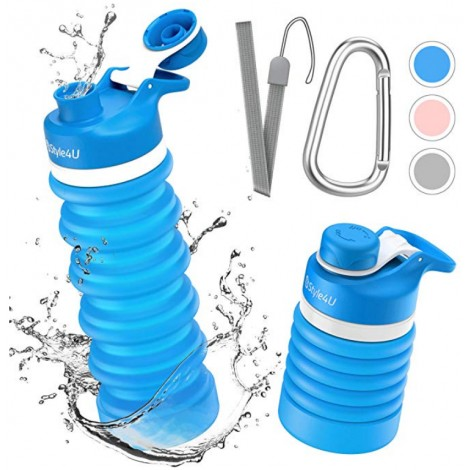 Collapsible Foldable Water Bottle - BPA Free FDA Approved