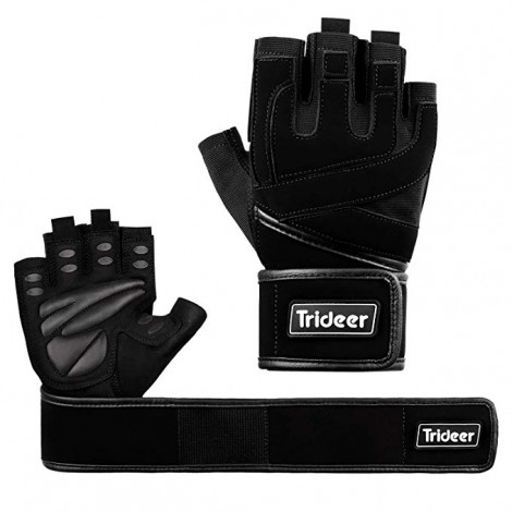 Trideer Padded Weightlifting Gym Gloves