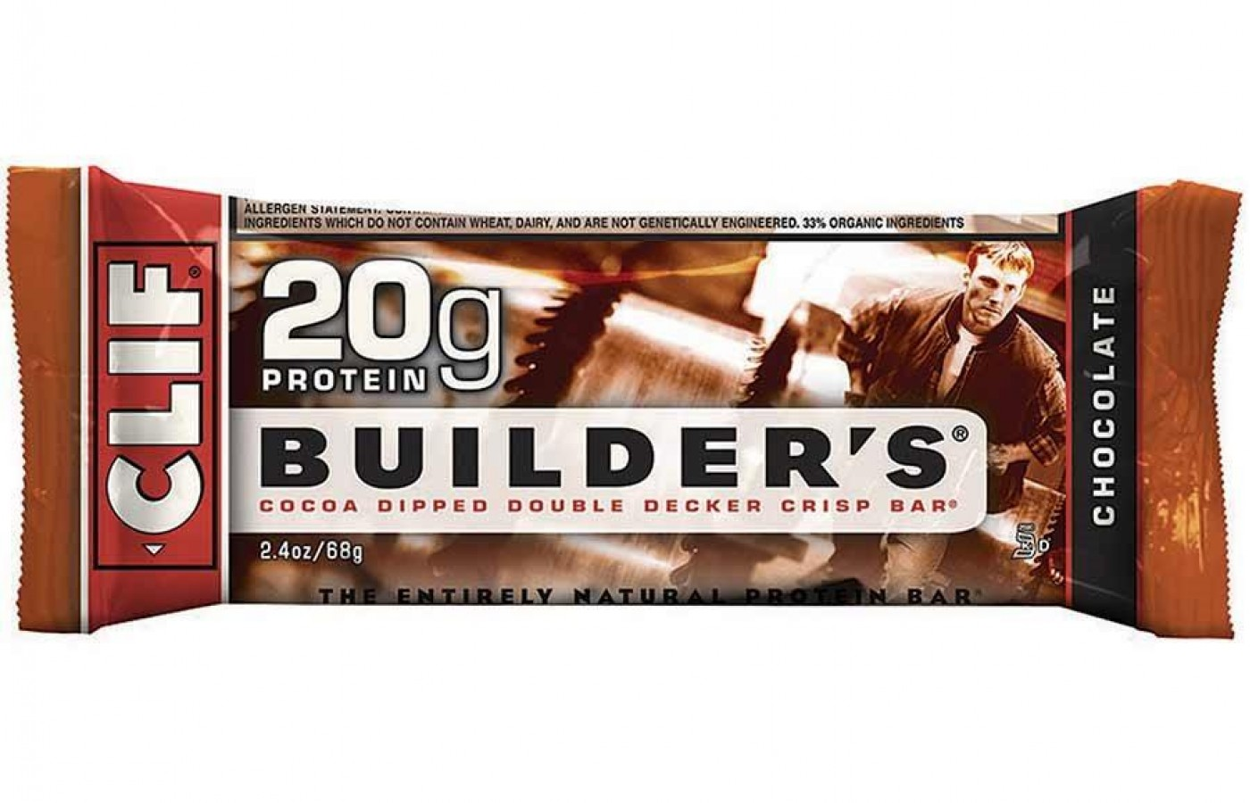 A classic Chocolate Clif Builder's bar.