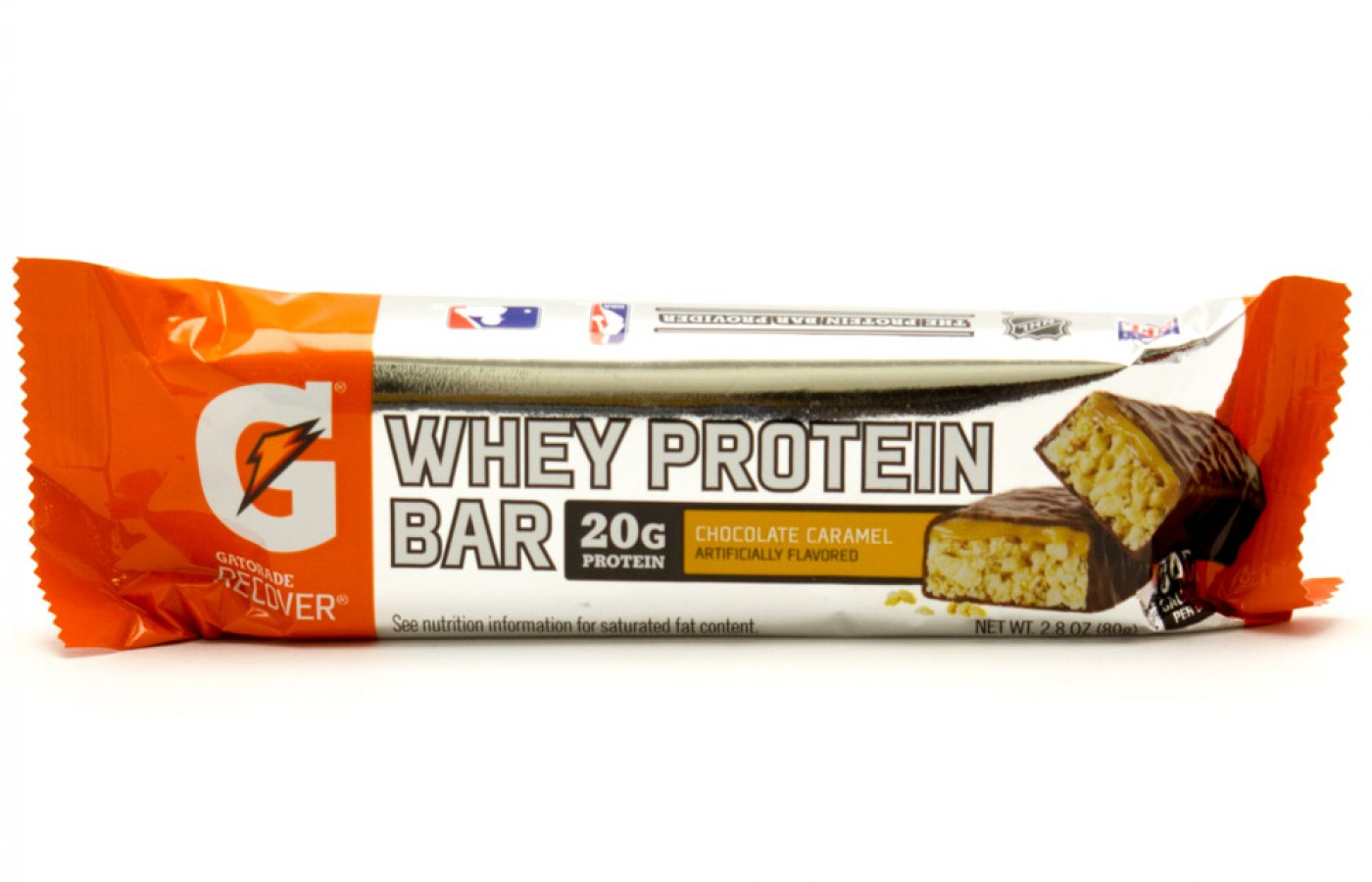 A Gatorade Whey Protein Bar in Chocolate Caramel for those with a sweet tooth.
