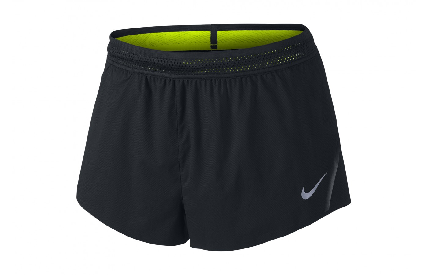 The Nike Aeroswift has a visibly perforated waistband for cooling.
