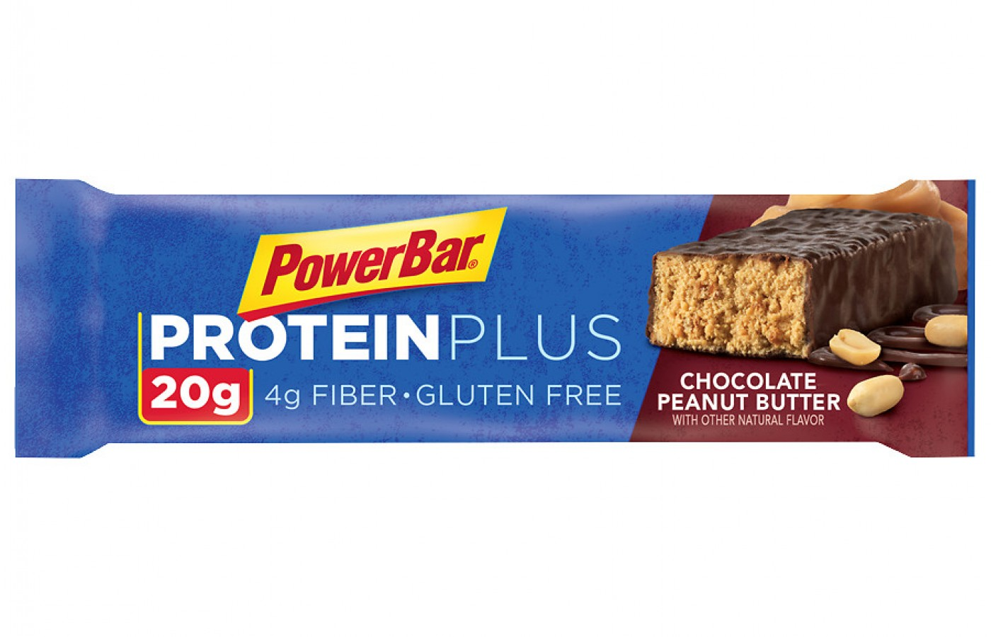 Chocolate peanut butter is a favorite flavor of the PowerBar Protein Plus.