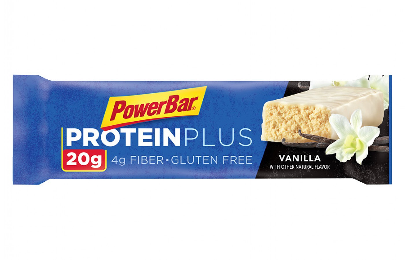 The vanilla PowerBar Protein Plus has 20 grams of protein.