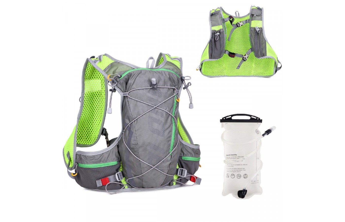 Triwonder Hydration Pack Backpack Back View