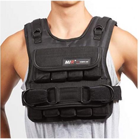 Mir Short Adjustable men's weighted vest