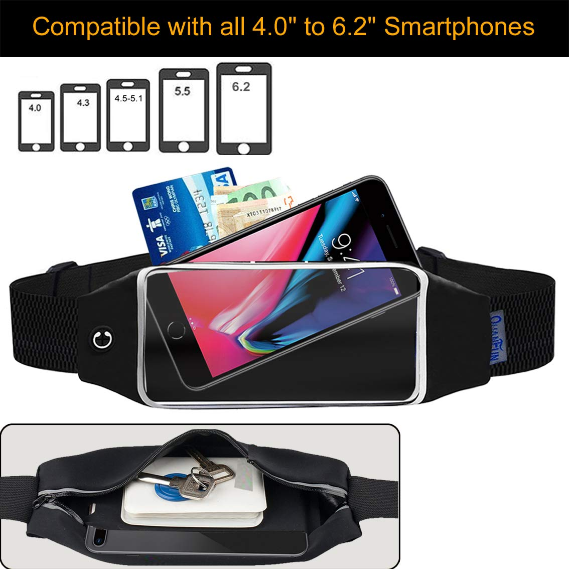 QUANFUN Phone Holder for Running compatibility