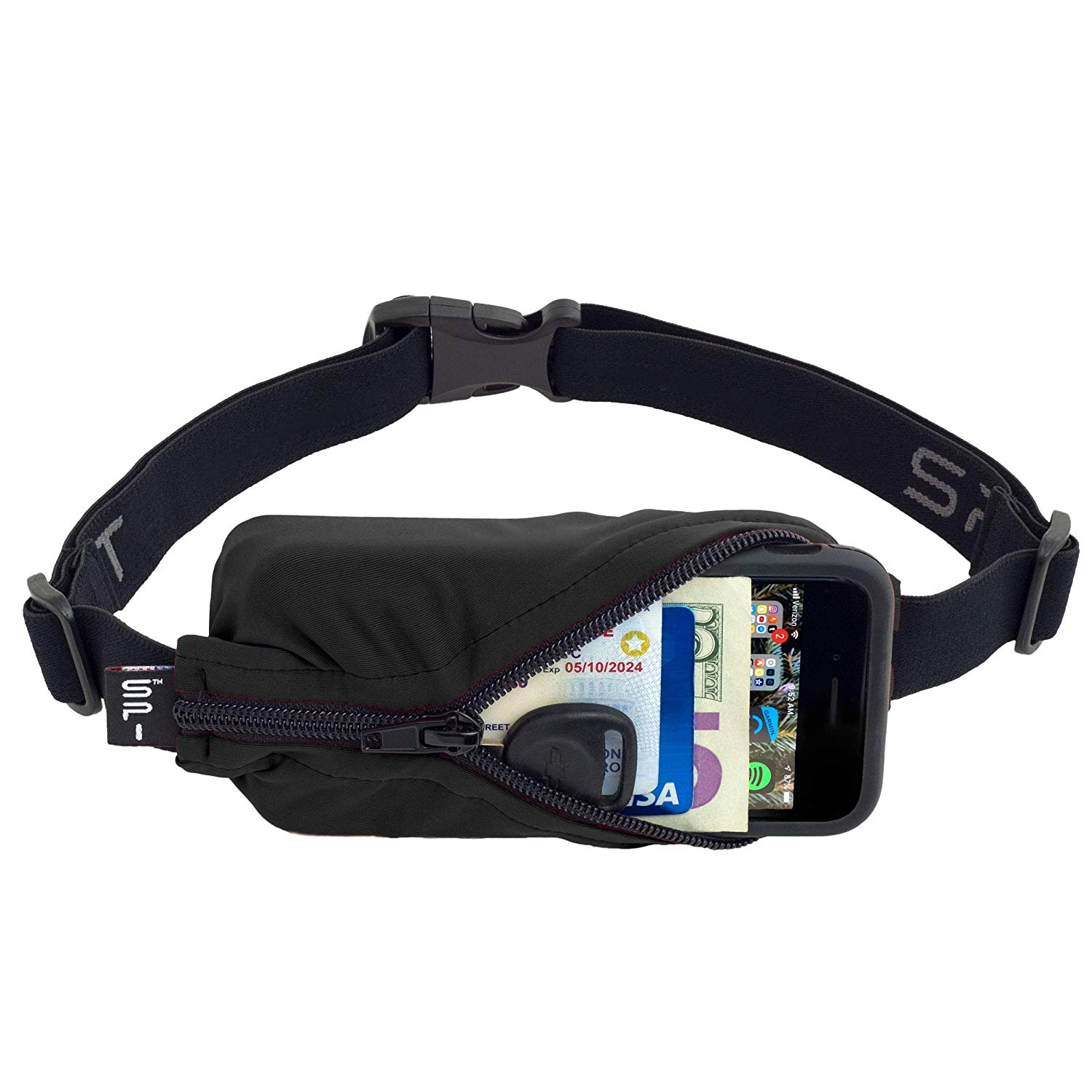 SPIbelt Running Belt black